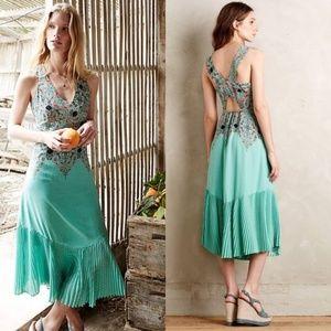 Anthropologie Green Canyon Maeve Maxi Dress NWOT